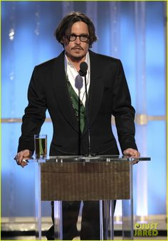 Johnny Depp in Moscot at the 2012 Golden Globes.