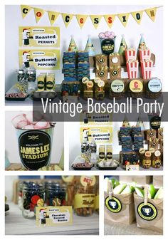 If your little boy loves baseball, then he'll spiral out of control for this vintage baseball-themed birthday party! This idea is a guaranteed home run!