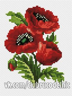 Diy Crafts - embroidery-Embroidery Flowers Easy Free Pattern 35 New Ideas flowers embroidery Easy Cross Stitch Patterns, Simple Cross Stitch, Cross Stitch Rose, Cross Patterns, Cross Stitch Flowers, Cross Stitch Designs, Diy Embroidery, Cross Stitch Embroidery, Free To Use Images