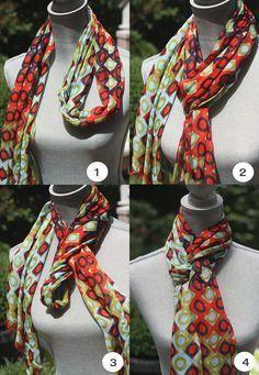идея как завязать шарф