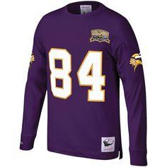 Mitchell /& Ness CRIS Carter 1995 Minnesota Vikings Home Purple Legacy Jersey