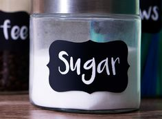 Our non-printable chalkboard labels are removable and perfect for chalk or liquid chalk markers (free marker with every order). Organizing Labels, Organizing Your Home, Organization, Free Label Templates, Online Labels, Liquid Chalk Markers, Chalkboard Labels, Pantry Labels, Easy Craft Projects