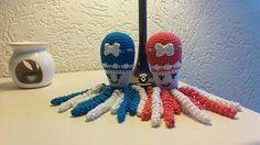 Deze inktvisjes zijn gemaakt door Joke van Thoor.