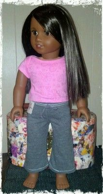 """'Lil Miss Missy Yoga Pants Hand Made for American Girl 18"""" Dolls   eBay"""