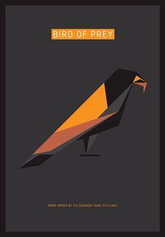 bird of prey- raven geometric simpl shapes -tony buckland