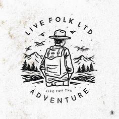 "979 Likes, 20 Comments - ~GF~ (@gemmafalah) on Instagram: ""Life for the adventure - commission work to @livefolk.ltd  #letteringdesign #lettering…"""