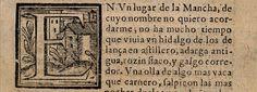 Primer párrafo de la primera edición de El Quijote