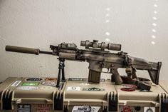 Suppressed FN Scar w/ Attachments