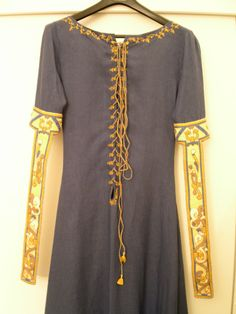 blue Bayeux-Dress   Racaire's Embroidery & Needlework…
