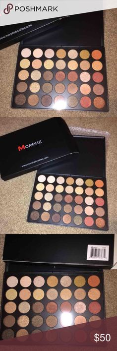MORPHE 35OS Morphe 35OS Shimmer natural glow palette new and authentic. no lowest price is firm . Comes with the original box. i know alot of people reacting about the palette and the price.if u dont like my price u dont have to buy or say anything/ nor lecture me about the price etc.bcuz im pretty aware!! Go buy to the website , please! thank u. (Don't put any comment in here , being rude or anything I'll block you)I DONT TRADE SO DONT ASK ME! I will BLOCK U Morphe Makeup Eyeshadow