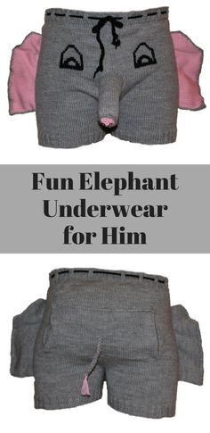 Hilarious Elephant Underwear for Him | Humorous Gift for Him | Christmas Present Idea | Gift Idea | Gift for Boyfriend | Gift for Husband #ad