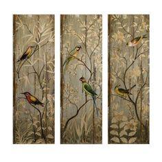 H Calima Bird Wall Decor (Set Of 3)