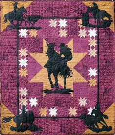 "QP3980 Rodeo Gals"" Quilt Pattern by June Jaeger Log Cabin Quiltworks"