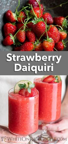 Check out our refreshing Strawberry Daiquiri recipe. It's the perfect cocktail for Summer.