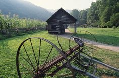 Old farm equipment in Tennessee.