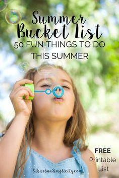 A Summer Bucket List