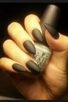 <3 #black #matte #nails