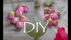 Маленькие бутоны пиона из фоамирана DIY Small peony buds from foamiran