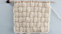BASKET WEAVE STITCH PATTERN Learn EASY KNIT AND PURL STITCH PATTERNS in the Absolute Beginner Knitting Series by Studio Knit