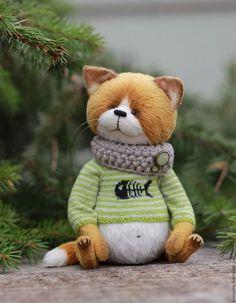 Мишки Тедди ручной работы. Ярмарка Мастеров - ручная работа. Купить Рыжик:). Handmade. Рыжий, тедди кошка, teddy