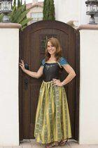 Women Adult Frozen Anna Princess Costume Dresses for Halloween Party Dress up