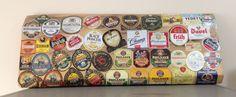Placa de Madeira usada para colar rótulos de Cerveja decoração de Bar 🍻🍺