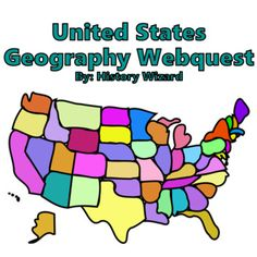 United States Geography Webquest by History Wizard | TpT