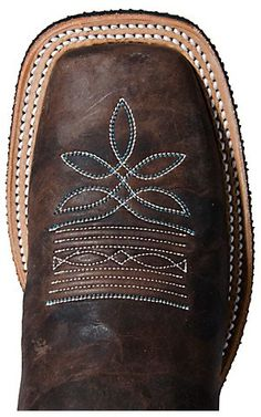 Justin® Bent Rail™ Ladies Chocolate Brown w/ Bright Blue Top Square Toe Western Boot | Cavender's Boot City