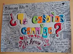 Propuesta matrimonio #TeAmo Max Steel, English Phrases, Love You, My Love, My Boyfriend, Diy And Crafts, Bullet Journal, Origami, Letters