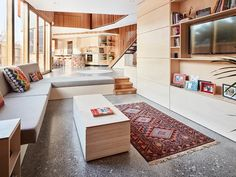 Archive of True North by Tandem Design Studio Residential Interior Design, Residential Architecture, Hydronic Heating, Grand Designs, Building Design, Living Room, True North, Vic Australia, Tandem