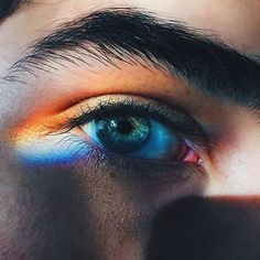 """""""He was one of those people i guess who had eternal oceans wild rivers shooting stars and all the gorgeous secrets hidden in their eyes"""". January 06 2020 at Rainbow Photography, Eye Photography, Aesthetic Eyes, Rainbow Aesthetic, Pretty Eyes, Beautiful Eyes, Tumblr Gay, Manu Rios, Rainbow Light"""