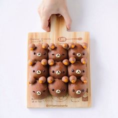 Homemade pull apart Rilakkuma cocoa bread buns!  Would you like some 🍞 too?  When you have an entire weekend of working on recipes and teaching and filming, definitely need something cute to start the day.  Had such a good time baking bread with @chito_ponmoko Chitose san yesterday.  Wood board: @3coins_official  昨日チトセさんは一緒にキャラちぎりパンを作りました。楽しかったです。  リラックマのちぎりパンです。可愛いですか?  ココアパンは美味しいね〜  #リラックマ #キャラフード #ちぎりパン #デコパン #キャラパン #🍞 #可愛い #手作り #パン #chigiripan #chigiribread #kyarafood #rilakkuma…