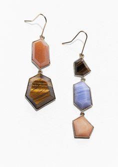 & Other Stories Gemstone Pendant Earrings in Blue