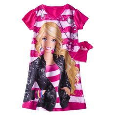 T has wanted Barbie pjs for so long!