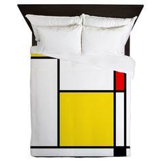 Mondrian Lines Queen Duvet