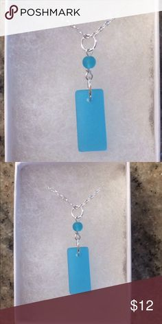 Beautiful Sea Glass Necklace. Beautiful Sea Glass Necklace. 18in Sterling Silver chain. Brand new. Handmade Jewelry