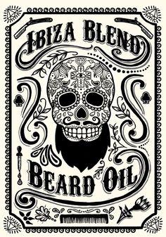 Ibiza Blend Beard Oil Label design | Oscar Postigo