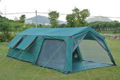 338.15$  Buy now - http://ali1sl.worldwells.pw/go.php?t=32787884131 - Luxury tents Outdoor 10-14 people two-bedroom tent camping equipment super large tent family barbecue automatic double layers