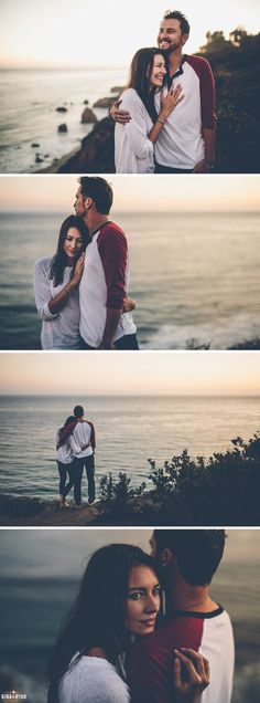 Beach Bluff Coastal Engagement Session Photos El Matador