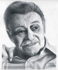 Mario Benedetti - Colección retratos a lápiz - Año 2012