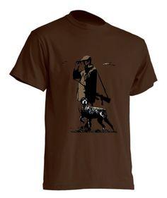 koszulka-lowiectwo-dla-mysliwego-na-prezent-brazowa