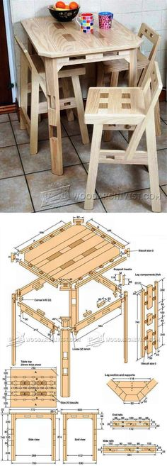 Kitchen Table Plans - Furniture Plans and Projects   WoodArchivist.com