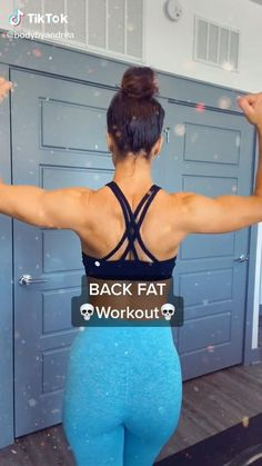 Fitness Workouts, Gym Workout Videos, Gym Workout For Beginners, Fitness Workout For Women, Sport Fitness, At Home Workouts, Band Workouts, Fitness Goals, Back Fat Workout