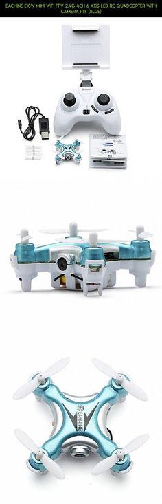 Eachine E10W Mini Wifi FPV 2.4G 4CH 6 Axis LED RC Quadcopter With Camera RTF (Blue) #shopping #plans #dji #phantom #vision #drone #gadgets #racing #standard #kit #parts #fpv #technology #night #products #3 #camera #tech