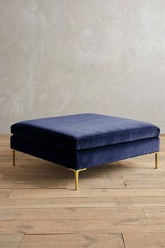 Slide View: 1: Velvet Edlyn Grand Ottoman