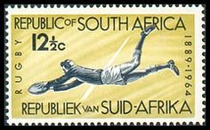 Rugby : a (small) tribute to the pioneers - Rugby History - Rugby Memorabilia Rugby Poster, South Africa Rugby, Rugby Sport, Vintage Newspaper, African History, Afrikaans, Africa Travel, The Good Old Days, Postage Stamps
