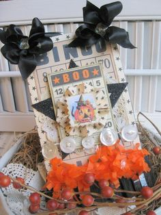 halloween embellished card
