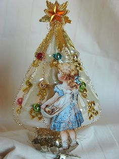 One of a series of vintage inspired ornaments I made for my nieces Christmas gift last year~