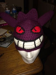 Crochet Pokèmon Gengar hat