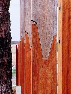 Two tone woods / John Wardle / Vineyard Detail Architecture, Timber Architecture, Landscape Architecture, John Wardle, Joinery Details, Timber Structure, Wood Joints, Wood Detail, Architectural Elements